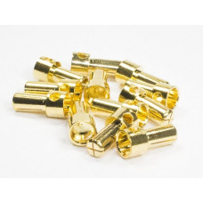 Standard gold plated 5mm bullet connectors males (12)